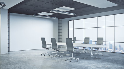 Contemporary conference room side