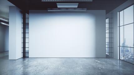 Contemporary grunge office interior