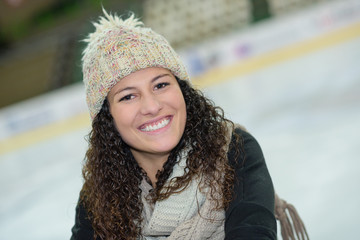 girl at ice rink