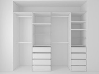 built-in wardrobe 3D render