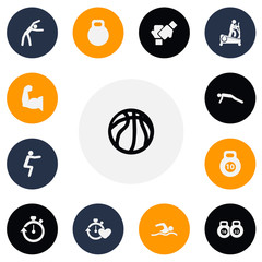 Set Of 13 Editable Lifestyle Icons. Includes Symbols Such As Workout, Health Time, Weightlifting And More. Can Be Used For Web, Mobile, UI And Infographic Design.