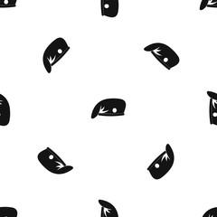 Military cap pattern seamless black