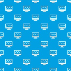 Graph in computer screen pattern seamless blue