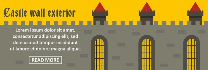 Castle wall exterior banner horizontal concept