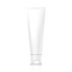 Tube of cream or gel. Illustration isolated on white background. Graphic concept for your design