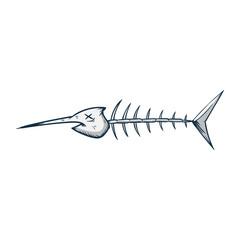 fish bone vector illustration