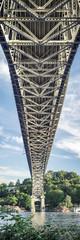 Under Seattle Bridge Vertical Panorama