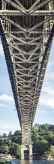 Vertical Bridge Panorama in Seattle Washington