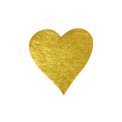 Golden hand drawn luxury heart