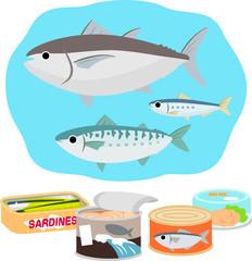 魚を使った食品の缶詰