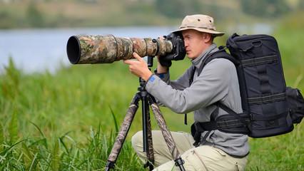 Wildlife photographer outdoor