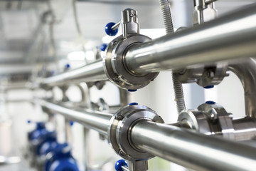 Pipelines from stainless steel, a system for pumping liquids for the food industry.