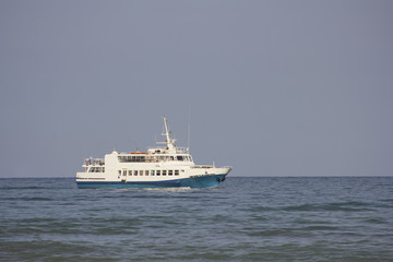 tourist ship in black sea