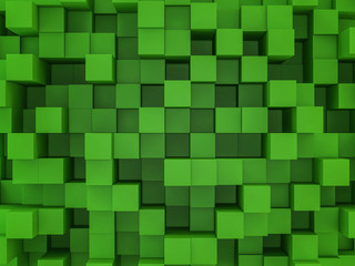 Abstract square mosaic background. 3D rendering