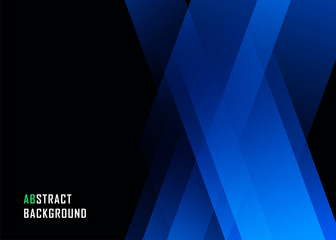 Blue geometric technological background. Template brochure and layout design