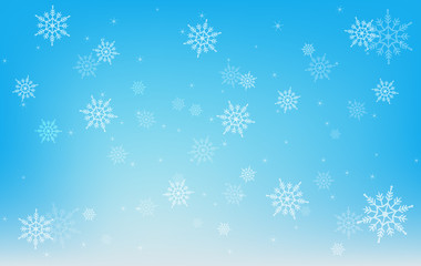 winter snowflake on blue background, Christmas design element concept, vector illustration