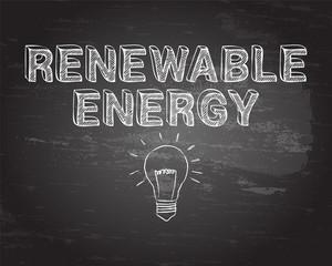 Renewable Energy Hand Drawn Blackboard