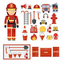 fireman fire fighting equipment