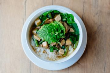 Fresh vietnamese pho soup