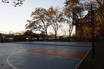 New York City Harlem Basketball Court USA