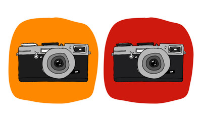 Hand Drawn Camera (Vector Illustration)