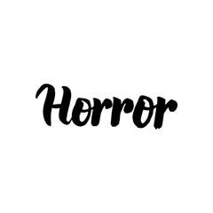 Horror Handwritten Lettering