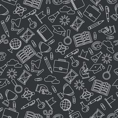 school pattern black