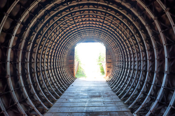 Papiers peints Tunnel Tunnel and light in the end of it