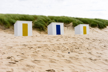 cabins on a beach