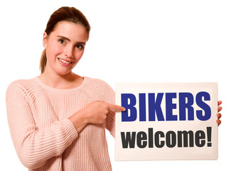 Canvas Print - Bikers welcome