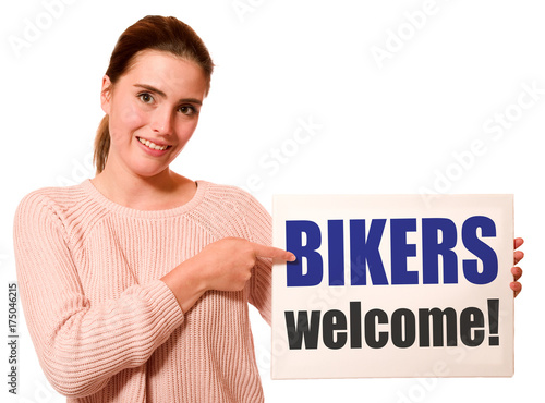 Wall mural Bikers welcome