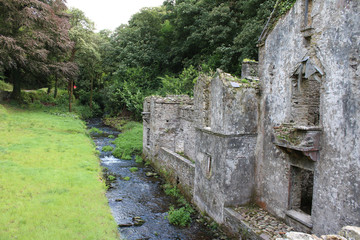 Remains of a castle watch tower, Ireland west Cork