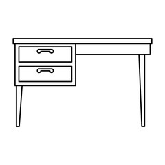 table desk isolated icon