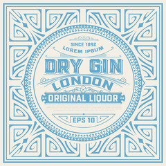 Vintage Label with Gin design