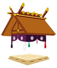 相撲【土俵罫線なし】西側