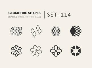 Set of universal minimal geometric  Fotoväggar