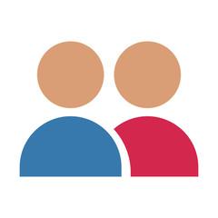 People avatar symbol icon vector illustration graphic design