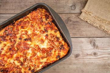 baked delicious lasagna