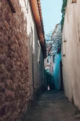 narrow street of a village