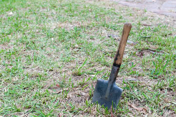 ancient shovel of war to dig trenches