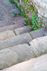 stone steps seen from above