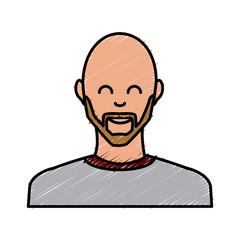 Adult man smiling icon vector illustration graphic design