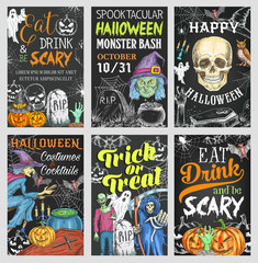 Halloween holiday trick or treat party banner