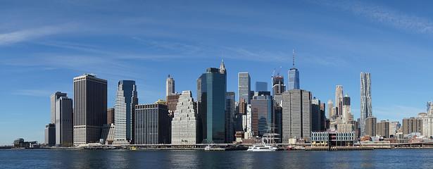 New York Manhatten Side with Hudson River