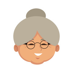 Cute grandmother cartoon icon vector illustration graphic design