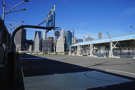 Basketball Court on Hudson River New York