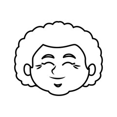 Cute grandmother cartoon icon vector illustration graphic design
