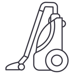 vacuum cleaner vector line icon, sign, illustration on white background, editable strokes