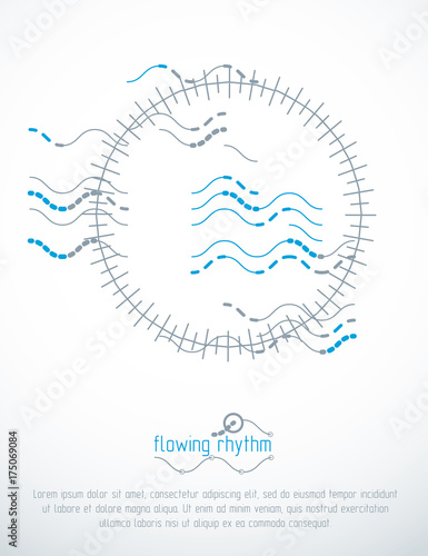 abstract wavy lines vector illustration graphic template