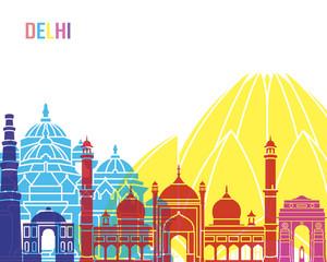 Wall Mural - Delhi skyline pop